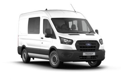 Ford Transit Crew Van 350 L3 2.0 EcoBlue MHEV FWD 130PS Leader Crew Van High Roof Manual [Start Stop] [DCiV]