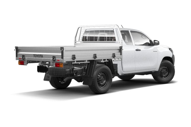 Toyota Hilux PickUp Extra Cab 4wd 2.4 D-4D 4WD 150PS Active Dropside Dropside Double Cab Manual [Safety Sense] back view