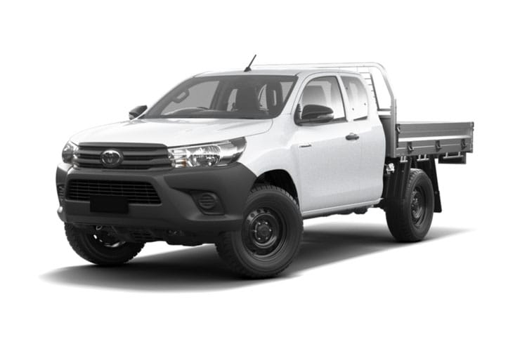 Toyota Hilux PickUp Extra Cab 4wd 2.4 D-4D 4WD 150PS Active Dropside Dropside Double Cab Manual [Safety Sense] front view